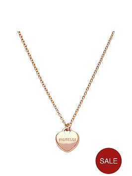 fiorelli-rose-gold-tone-signature-heart-necklace