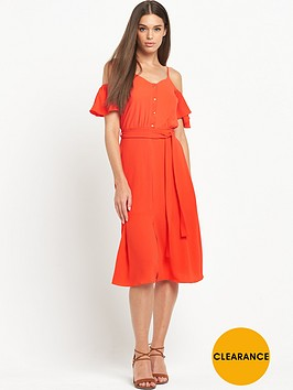 river-island-cold-shoulder-frill-dress