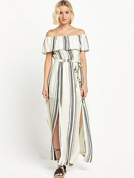 river-island-stripe-bardot-maxi-dress