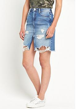river-island-ripped-denim-skirt