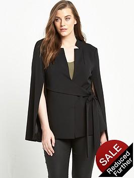 lavish-alice-curve-tie-front-split-sleeve-blazer