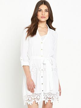 river-island-lace-hem-shirt-dress