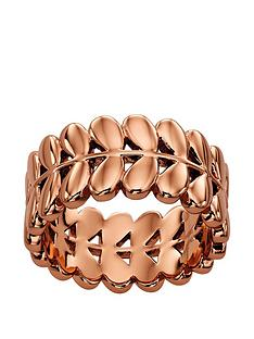 orla-kiely-rose-gold-plated-leaf-ring