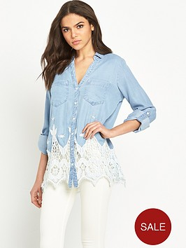 river-island-cutwork-denim-shirt