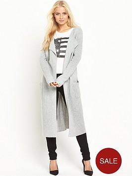 hilfiger-denim-long-cardigan-light-grey-heather