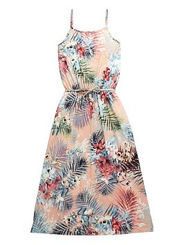 v-by-very-girls-tropical-print-maxi-dress-with-belt