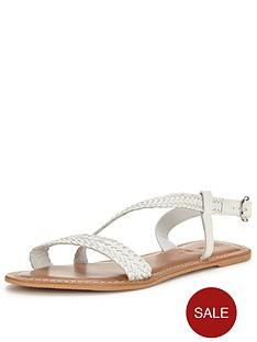 v-by-very-alba-woven-asymmetric-leather-sandal