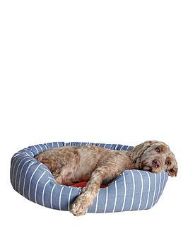 rosewood-40-winks-bedding-grey-stripetangerine-oval-bed-20-inch