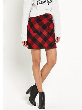 superdry-north-check-mini-skirt-red-gingham
