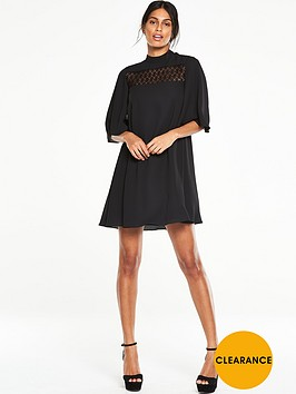 v-by-very-lace-insert-high-neck-dress