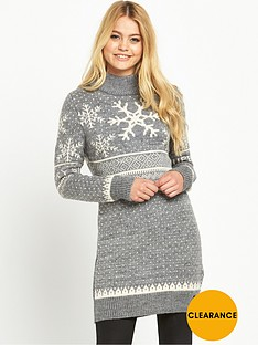 superdry-nordic-ski-snowflake-tunic-light-grey-marl