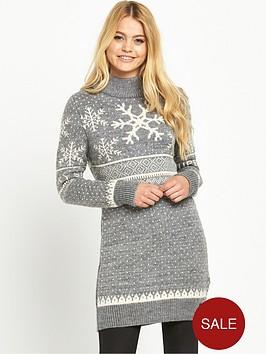 superdry-nordic-ski-snowflake-tunic-light-grey-marl