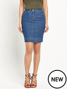 v-by-very-frayed-hem-denim-skirt