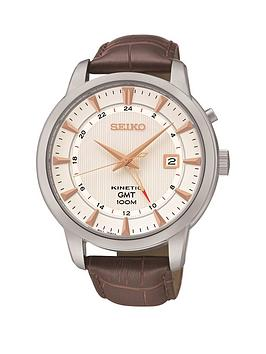 seiko-seiko-kinetic-gmt-white-dial-rose-gold-marker-stainless-steel-case-tan-leather-strap-mens-watch