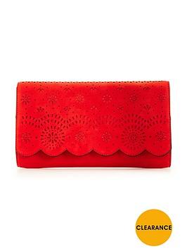 v-by-very-lasercut-floral-clutch-bag-watermelonnbsp