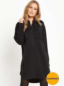 g-star-raw-rovik-vf-shirt-dress-black