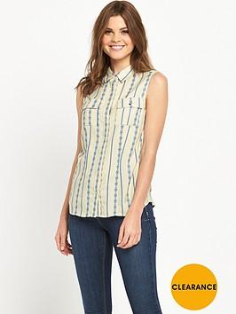 v-by-very-sleeveless-jacquard-stripe-blouse