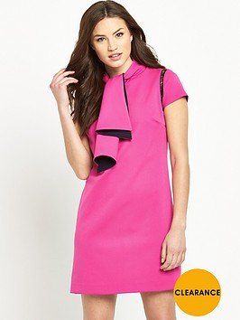 v-by-very-ladder-detail-pussybownbsptie-neck-dress