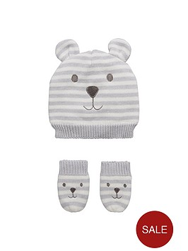 mini-v-by-very-baby-boys-stripy-bear-hat-and-mittens-set
