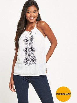 v-by-very-embroidered-halter-neck-crinkle-blouse