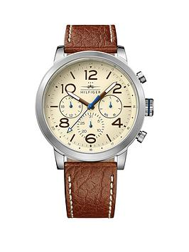 tommy-hilfiger-tommy-hilfiger-cream-dial-brown-leather-strap-mens-chronograph-watch