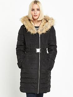 warehouse-long-asymmetricnbspcoat-black