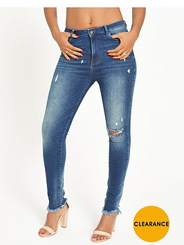 rochelle-humes-frayed-hem-skinny-jeansnbsp