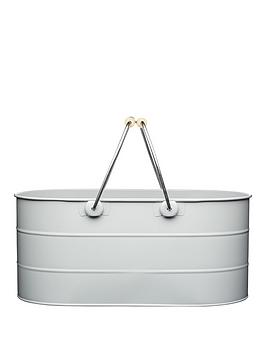 living-nostalgia-steel-trug-in-grey-ndash-39-x-21-x-17-cm