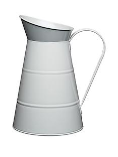 living-nostalgia-23-litre-enameled-steel-water-jug-in-grey
