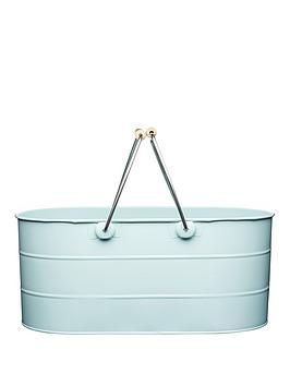 living-nostalgia-steel-trug-in-blue