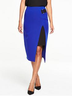 v-by-very-buckle-detail-asymmetric-skirt