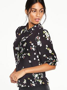 v-by-very-volume-sleeve-printed-blouse