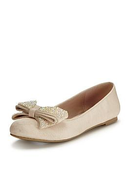 mini-miss-kg-girls-glimmer-bownbspballerinanbspshoes