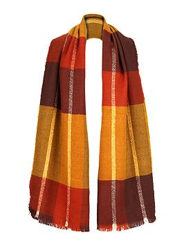 v-by-very-autumnal-colour-block-check-scarf