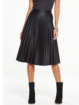 v-by-very-faux-leather-pleated-midi-skirt