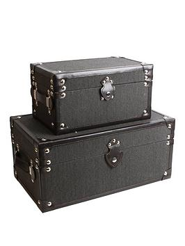 set-of-2-plain-storage-trunks-dark-grey