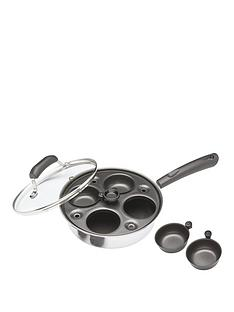 kitchencraft-carbon-steel-non-stick-induction-safe-4-cup-egg-poacher-21-cm