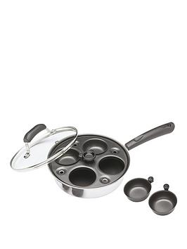 kitchencraft-carbon-steel-non-stick-induction-safe-4-cup-egg-poacher-21-cm