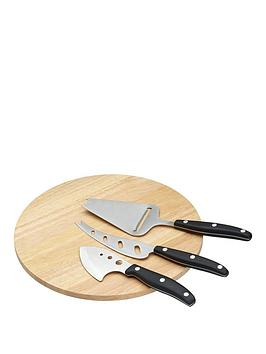 kitchen-craft-kitchen-craft-cheese-board-serving-set-with-board-and-three-cheese-servers