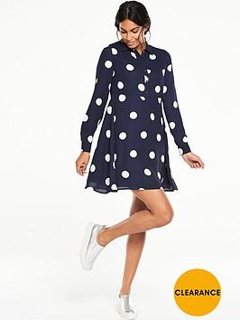 v-by-very-collared-swing-spot-dress