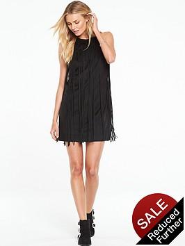 v-by-very-fringe-halterneck-dress