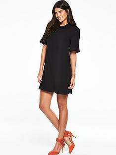 v-by-very-high-neck-swing-dress
