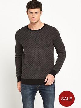 scotch-soda-jacquard-knitted-crew-neck-jumper