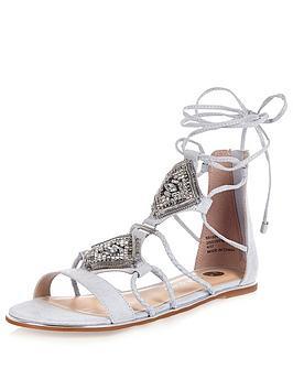 river-island-flat-embellished-ankle-tie-gladiator-sandal