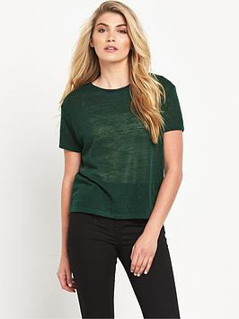 lee-metallic-relaxed-crew-top-bottle-green