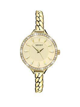 seksy-seksy-champagne-dial-swarovski-crystals-bracelet-ladies-watch