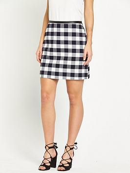 oasis-check-skirt