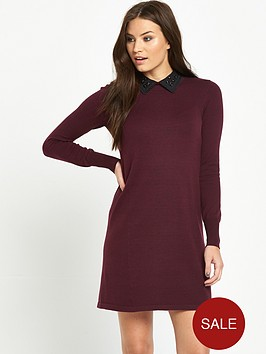 oasis-embellished-collar-swing-dressnbsp