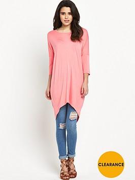 vero-moda-cool-dapper-oversized-top-pink