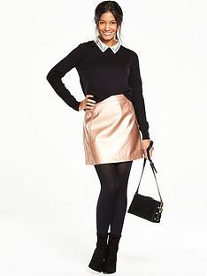 oasis-collar-knit-jumper-black